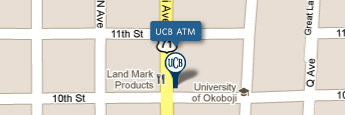 UCB Milford Office ATM Map Image