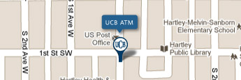 UCB Hartley ATM Map Image