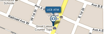 UCB Lake Park ATM Map