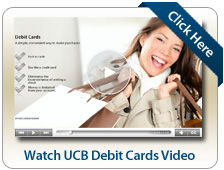 Watch UCB Debit Cards Video