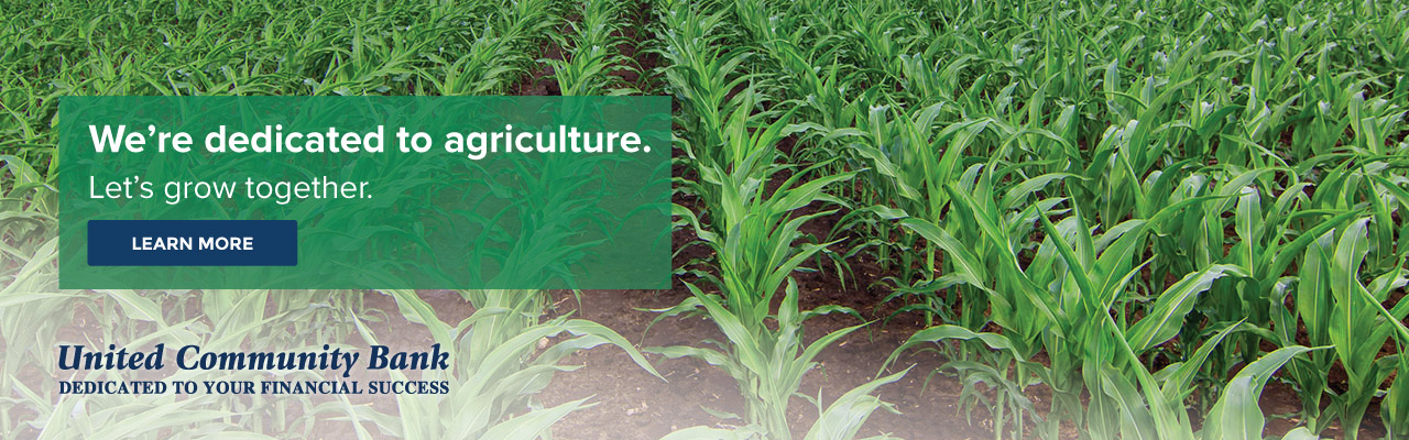 We're dedicated to agriculture. Let's grow together. United Community Bank, dedicated to your financial success.